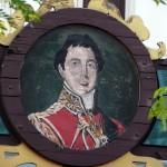 Sign depicting the Duke of Wellington